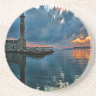 Lighthouse on Water Drink Coasters