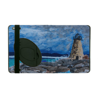 Lighthouse Painting iPad Case with Kickstand