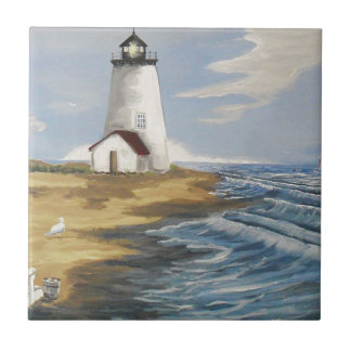 Lighthouse Painting Tile