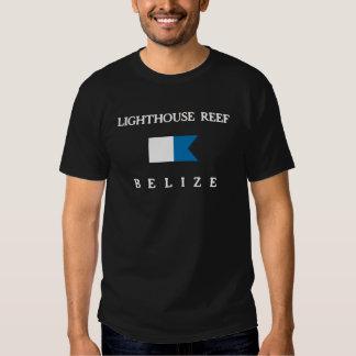 Lighthouse Reef Belize Alpha Dive Flag T Shirt