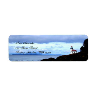 Lighthouse Return Address Label