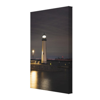 Lighthouse Rockwall Harbor Canvas Print