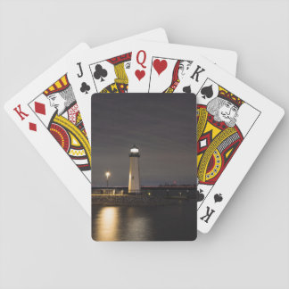 Lighthouse Rockwall Harbor Playing Cards