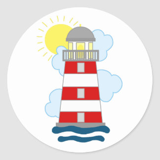 Lighthouse Round Sticker