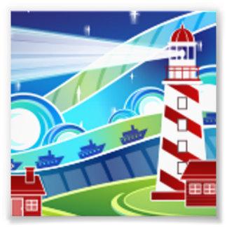 Lighthouse Scene Photo