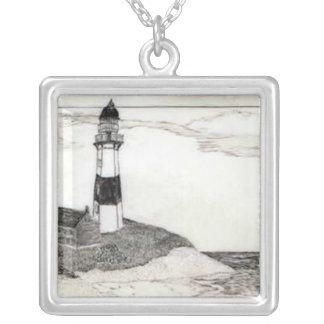 Lighthouse Scrimshaw Necklace