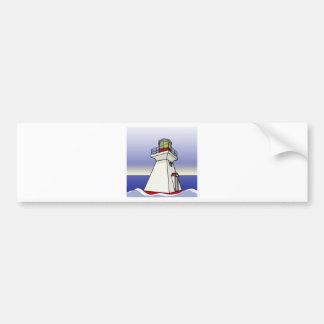 Lighthouse Sea Scene Bumper Sticker