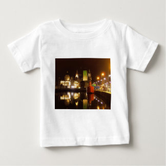 Lighthouse Ship & Liver Buildings, Liverpool UK Baby T-Shirt