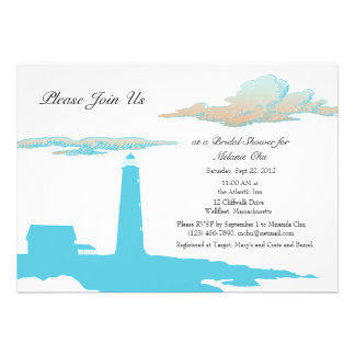 Lighthouse shower invitation