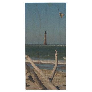 Lighthouse Sightseeing Wood USB 3.0 Flash Drive
