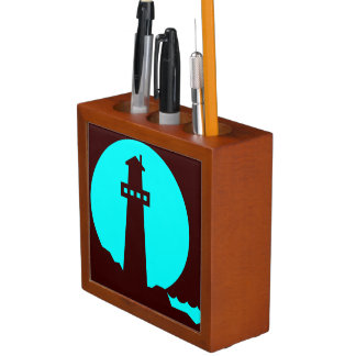 Lighthouse Silhouette Desk Organizer