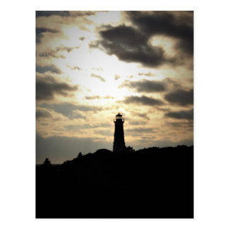 Lighthouse Silhouette Postcard