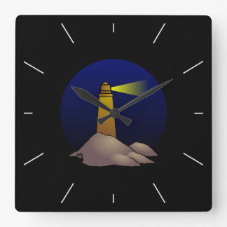 Lighthouse Square Wall Clock