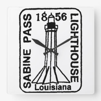 Lighthouse Stamped Clock