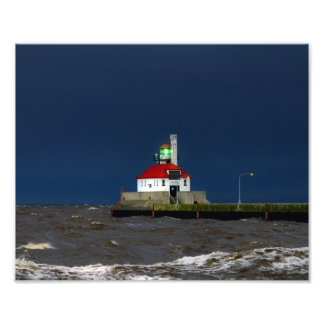 Lighthouse Storm Photo Print