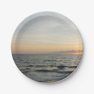Lighthouse Sunrise 7 Inch Paper Plate