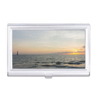 Lighthouse Sunrise Business Card Holder