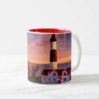 Lighthouse sunrise mug