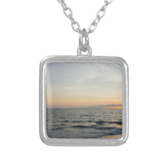 Lighthouse Sunrise Silver Plated Necklace