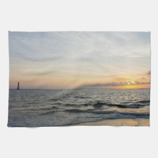 Lighthouse Sunrise Towels