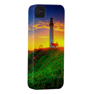 Lighthouse Sunset High Definition Photography iPhone 4 Case-Mate Case