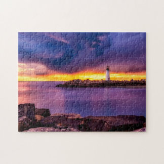 Lighthouse & Sunset Photo Puzzle with Gift Box