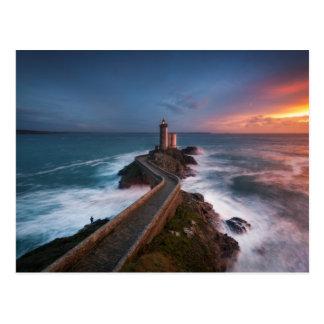 Lighthouse Sunset Plouzané | Finistère, Brittany Postcard
