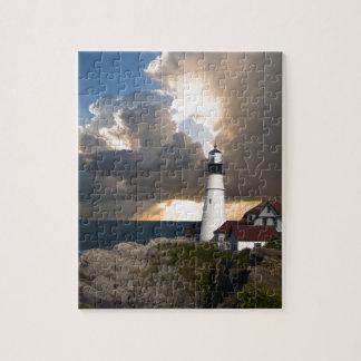 Lighthouse Sunset: Portsmouth, New England Puzzles