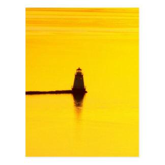 Lighthouse Sunset Postcard