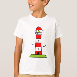 Lighthouse t shirt for kids | Nautical beach theme
