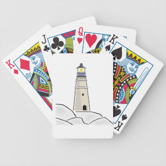lighthouse tower design bicycle playing cards