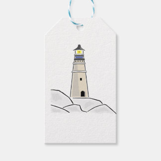 lighthouse tower design gift tags