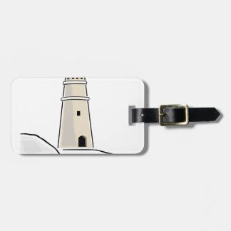 lighthouse tower design luggage tag