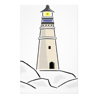 lighthouse tower design stationery