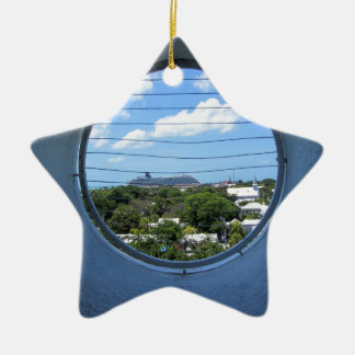 Lighthouse view of Mallory Square Ceramic Star Ornament