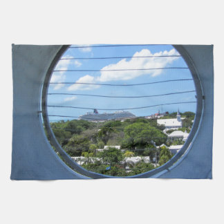 Lighthouse view of Mallory Square Towels