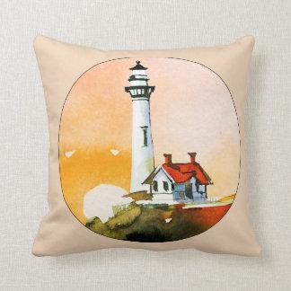 Lighthouse Vignette Throw Pillow