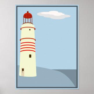 Lighthouse vintage poster