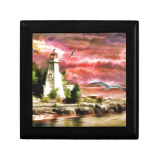 lighthouse water painting gift box