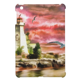lighthouse water painting iPad mini cases