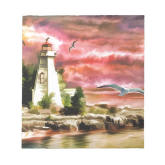 lighthouse water painting notepad