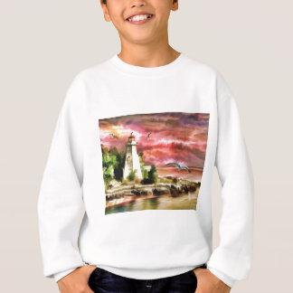 lighthouse water painting sweatshirt