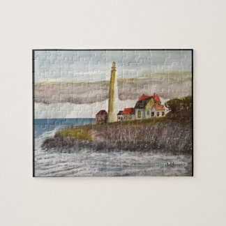 LIGHTHOUSE ,   WATERCOLOR JIGSAW PUZZLE