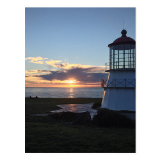 Lighthouse With Fall Sunset Lost Coast California Postcard