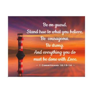 Lighthouse with Quote Canvas Print