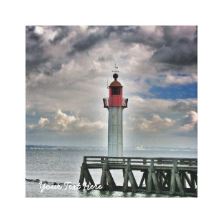 Lighthouse with Stormy Sky Canvas Print