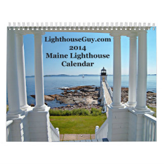 LighthouseGuy.com 2014 Maine Lighthouse Calendar