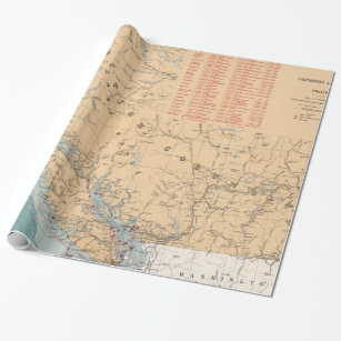 Lighthouses and Sailing Routes of British Columbia Wrapping Paper