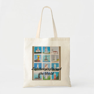 Lighthouses around the World Budget Tote Bag