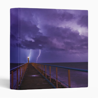 Lighthouses in a Thunderstorm with Purple Rain Binder